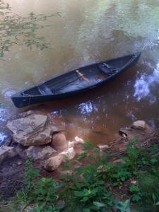 My Canoe, Floating, June 6, 2009